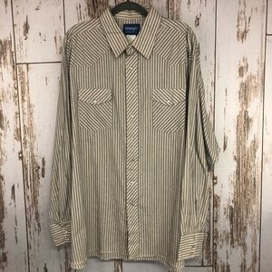 Wrangler Western Shirt, Size 3XL Tall Pearl Snaps